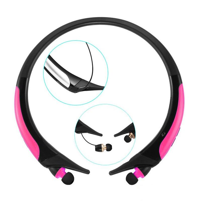 Écouteurs HD sport Bluetooth améliorés, casque stéréo basse, écouteurs sans fil rétractables avec micro pour téléphone - 4