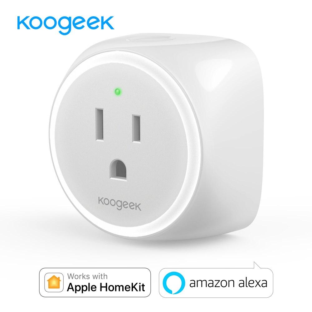 все цены на Koogeek Wifi Socket Smart Power Socket Plug for Apple HomeKit Amazon Alexa Siri Voice Remote Control Smart Home Wifi Plug