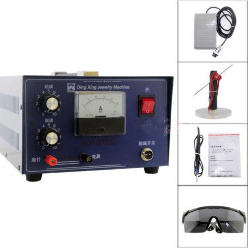 Nouveau DX-50A bijoux machine de soudage laser mini soudeuse par points or argent 400 W 220 V bijoux Laser Machine de soudage par impulsions