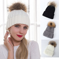 Winter Fur Pom Pom Hat For Women Genuine Raccoon Fur Ball Accessories Fashion Warm Casual Female Real Fur Beanies Cap Pompon Hat