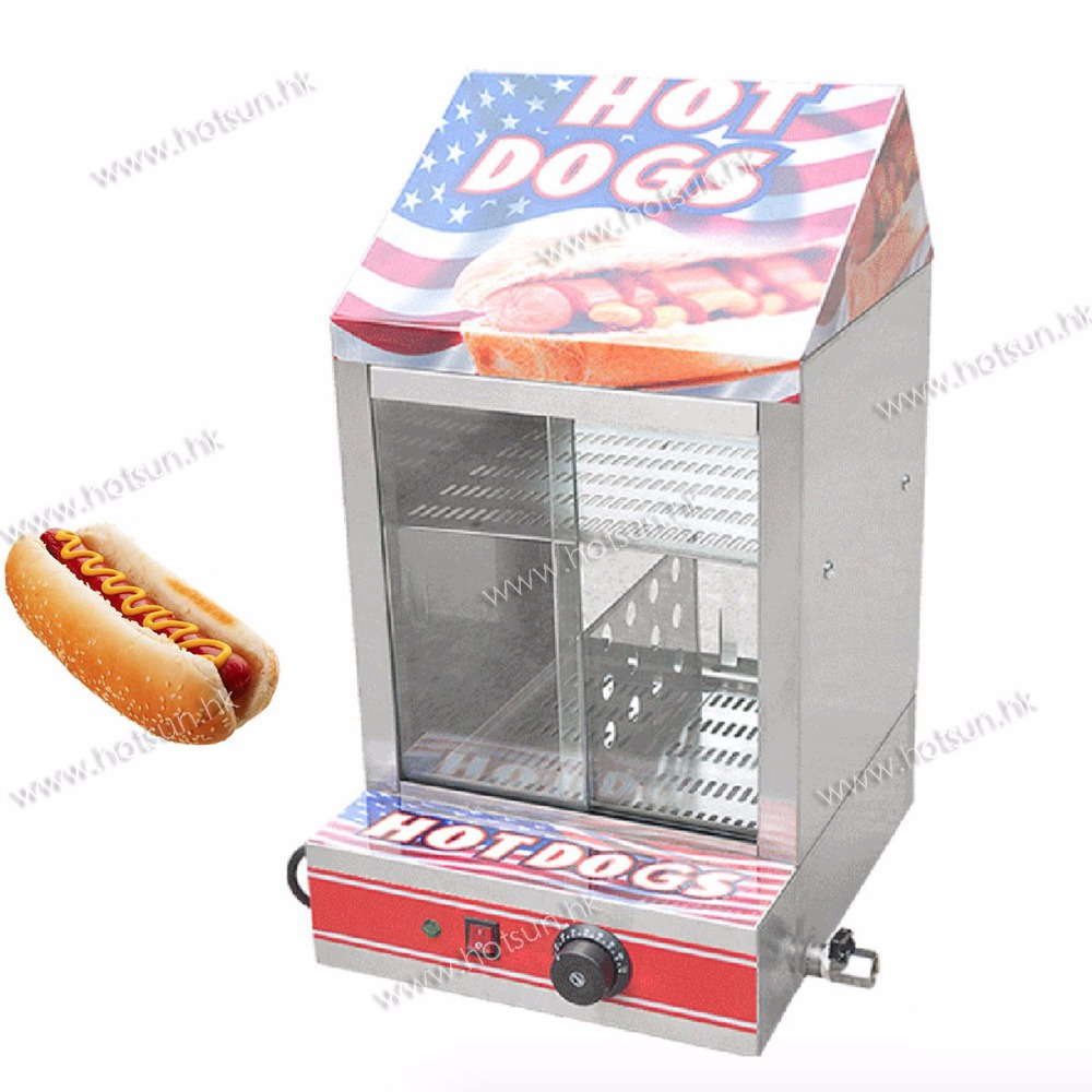 Commercial 110V 220V Countertop Electric Hot Dog Steamer Warmer Displayer Showcase ce appvide commercial 220v countertop electric hot dog steamer warmer display showcase