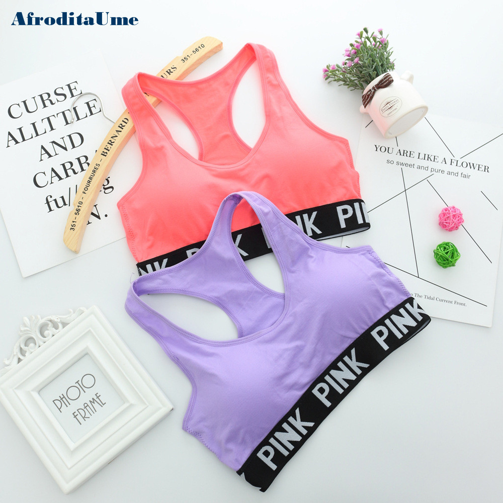 Women Casual Crop Top Cropped Padded Bra Tank Top Vest Fitness Workout Bras 3
