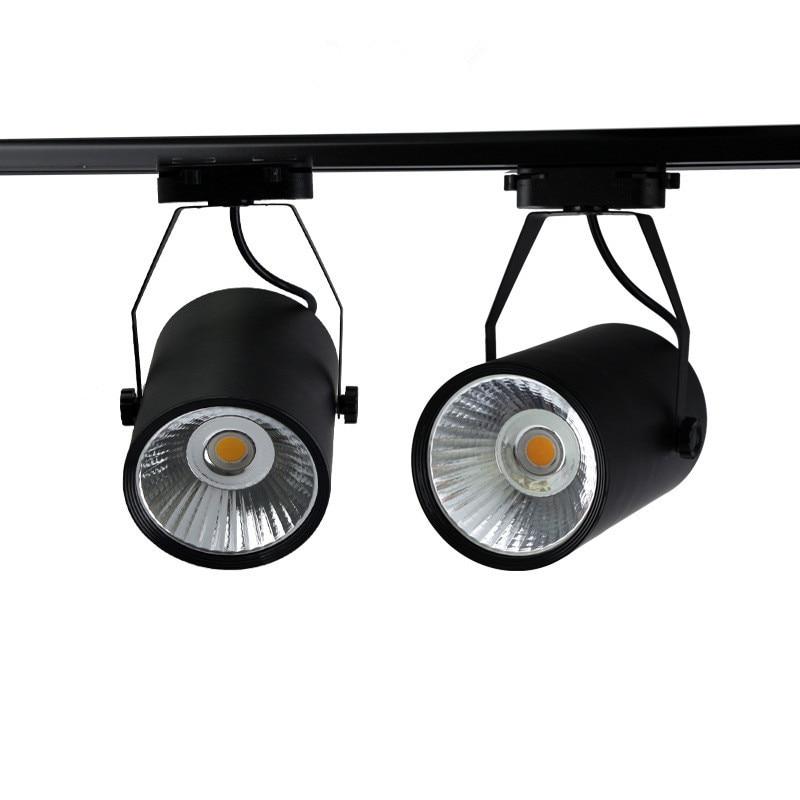 Aliexpress 1ps 10w 20w 30w Led Track Light Aluminum Ceiling Rail Lighting Cob Spot Spotlights Replace Halogen Lamps Ac 110 240v