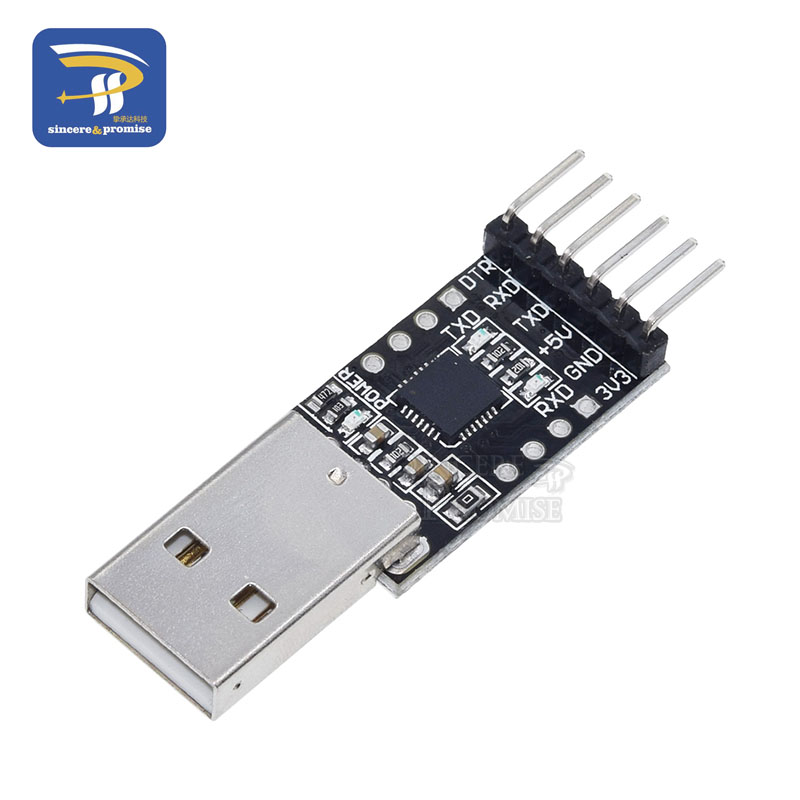 6Pin USB 2.0 to TTL UART Module Serial Converter CP2102 STC Replace Ft232 Mod FP