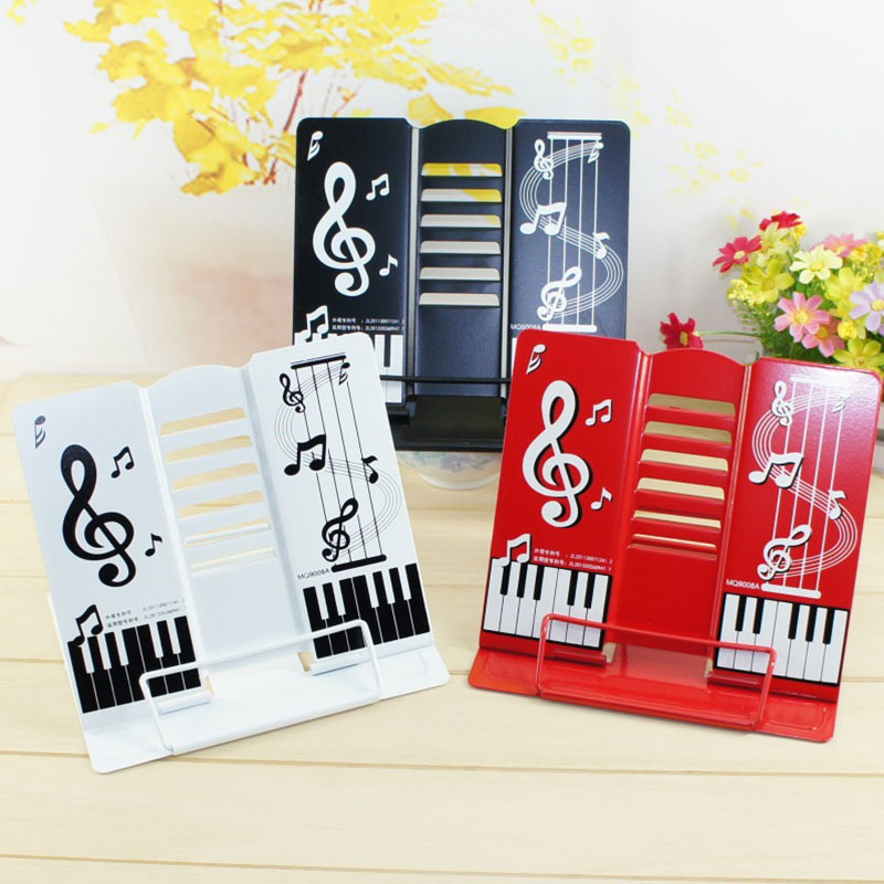 Creative Stainless Steel Music Anti-myopia Bookend Desk Organizer Desktop Book Holder School Stationery Office Accessories