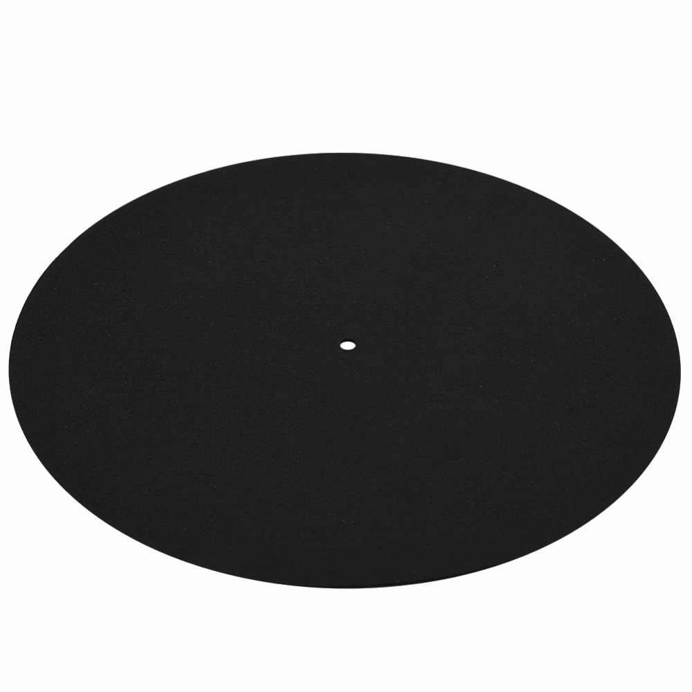 Vbestlife 1 шт. ультра-тонкий антистатический LP виниловый записьной проигрыватель, проигрыватель коврик для фонографов плоский мягкий коврик для записей коврик