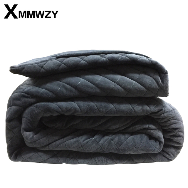 Winter Weighted Blanket Size 36*48/40*60/48*72/60*80in Dark Grey Crystal Velvet Quilting Weighted Blanket 60s 100% Cotton Fabric