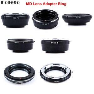 Image 1 - Foleto adapter do obiektywu pierścień do minolty MD MC obiektyw do canon nikon pentax NX Micro 4/3 M43 adapter do montażu G3 GF5 MD M43