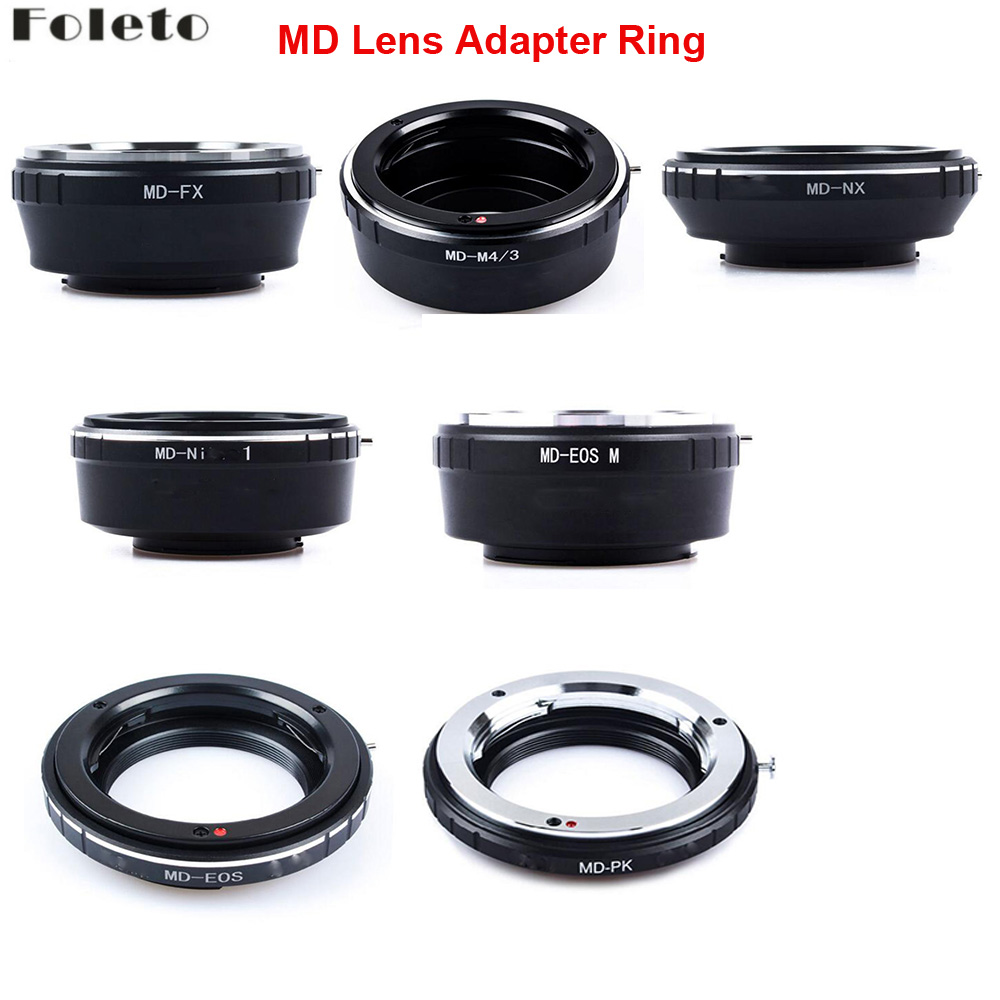 Foleto Camera Lens Adapter Ring for Minolta MD MC Lens to For canon nikon pentax NX Micro 4/3 M43 Mount Adapter G3 GF5 MD-M43 image