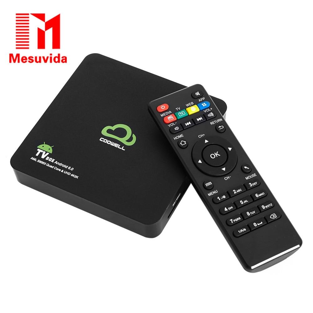 ФОТО Mesuvida COOWELL V2 TV Box 2G 16G Smart Android 6.0 TV Box Amlogic S905X Quad-core Bluetooth 4.0 Dual Band WiFi Set-top Box
