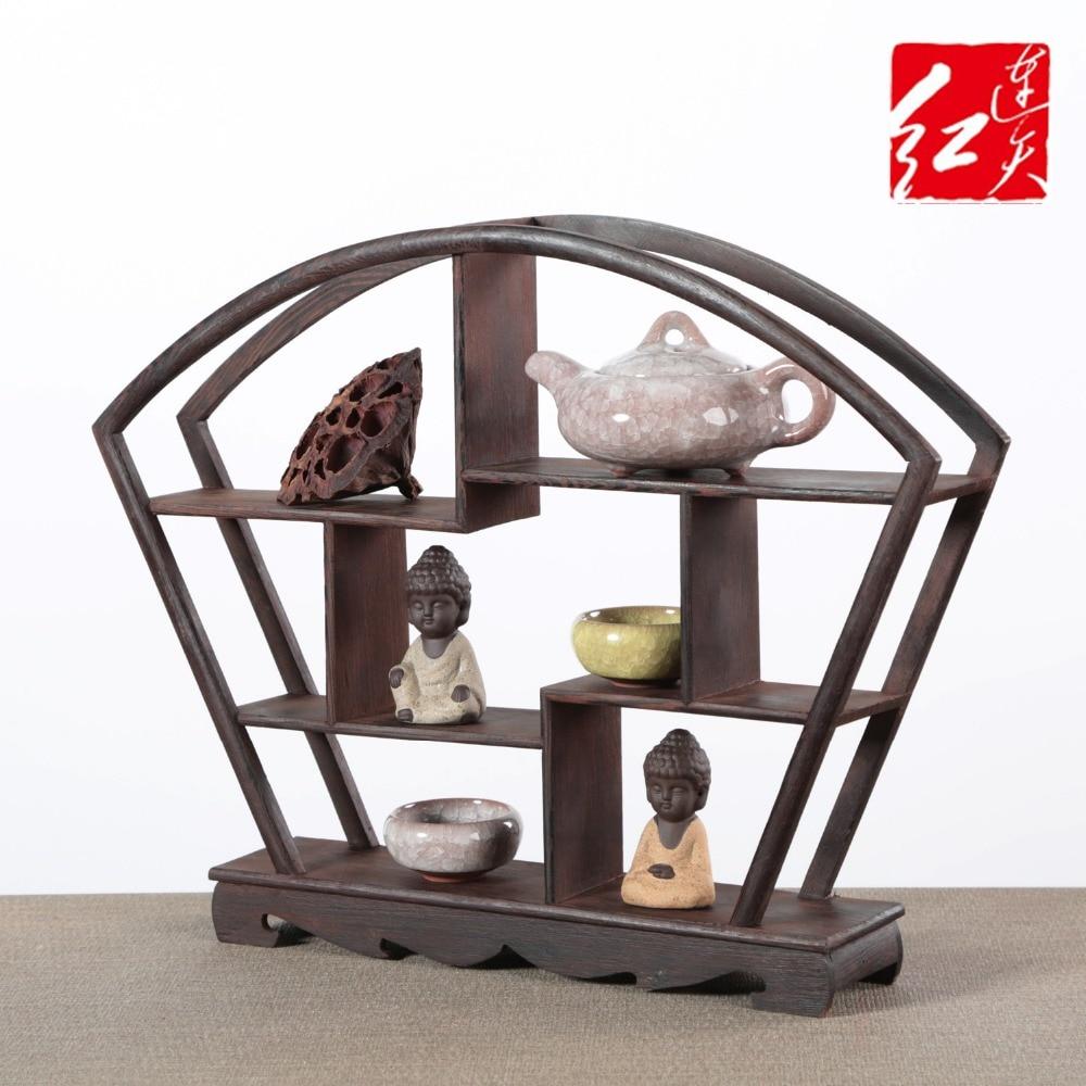 Aliexpress Wohnzimmer Grosse Dekoration 4045 Cm Schreibtisch Ornament Tisch Rahmen Wenge Antiken Regal Klassischen Chinesischen Desktop Holz Curio