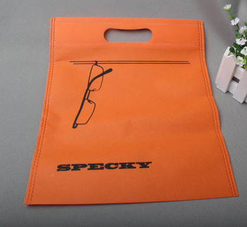Custom print non woven tote bag punch hole handle 30*25cm no side no depth 500pcs lot
