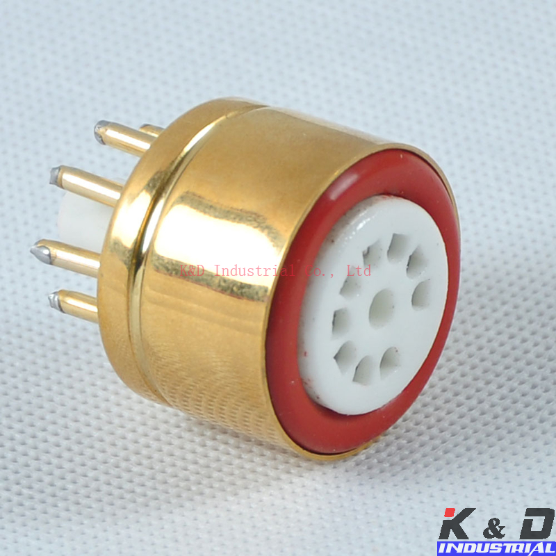 1pcs Gold plated 12AU7 12AX7 to 6SL7 6SN7 Tube Converter Adapter Socket D