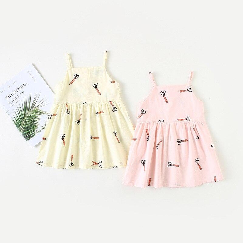 2018 Summer New Girls Cotton Jumper Dress Baby Child Suspending Vest dress Girls Dresses For Party And Wedding