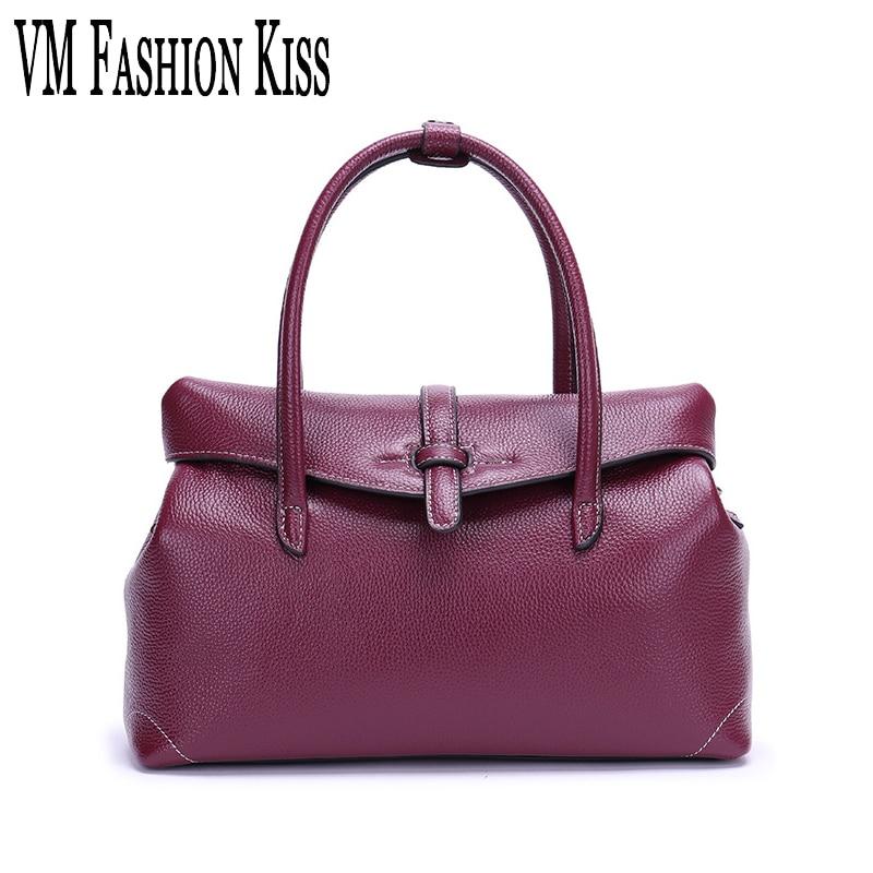 VM FASHION KISS Real Leather Luxury Handbags Ladies Bags Designer Shoulder Bags For Women Female Messenger Bags High Quality asus m4a78 vm desktop motherboard 780g socket am2 ddr2 sata2 usb2 0 uatx second hand high quality