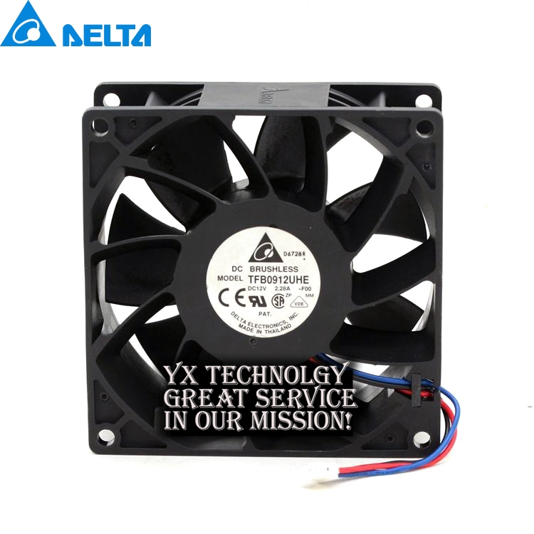 где купить  Delta New and Original in TFB0912UHE 12v 2.28A 9238 mm fan fan violence server for  92*92*38mm  по лучшей цене