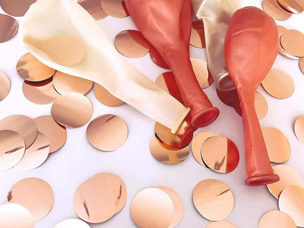 10pcs Rose Gold Party Balloon Confetti Bride to Be Wedding Decoration Birthday Party Adult Ball Baby Shower Girl Air Balloons