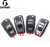 Caso Chave Remoto inteligente para BMW 3 5 Nova Série F Série 7 X1 X3 X5 Substituição da Chave Do Carro Shell blanks + lâmina chave Inteligente