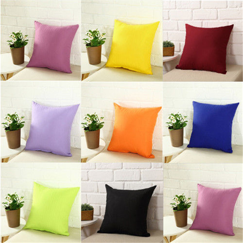Nonwoven-Pillow-Cover Plain Cotton Removable Dyed Washable Dustproof 100%Percale