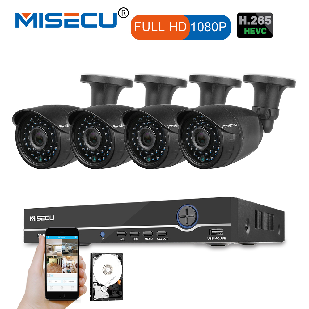 MISECU Full HD 8CH NVR 1080P 48V POE CCTV System P2P HDMI 1920*1080P 36 IR Metal Camera Surveillance Night vision out/indoor Set подвесная люстра lussole lsp 0216