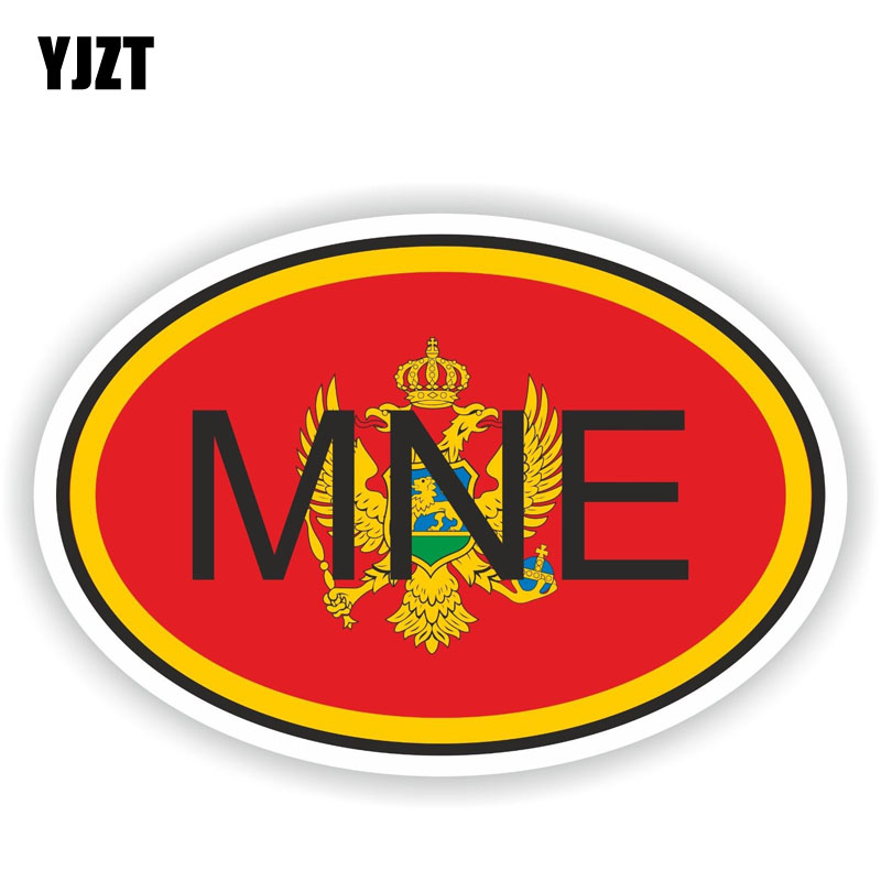 YJZT 15.7CM*10.6CM Car Accessories Funny MONTENEGRO Country Code Decal Car Sticker 6-0935