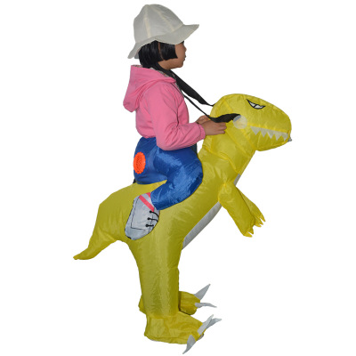 Halloween props explosions children inflatable clothing green dinosaur inflatable clothing Halloween inflatable doll clothes toy