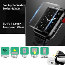New 3D Hydrogel Transparent PET Screen Protection Film 44/40/42/38 mm Watch Cover For Apple Series 4/3/2/1