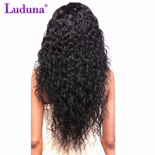 Luduna бразильский вода волна пучки Волосы Remy бразильский пучки волос плетение 100% человеческих Наращивание волос можно купить 3 или 4 пучки