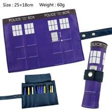 Doctor Who Canvas scroll button pencil bag student supplies pen bag case