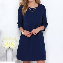 Women Chiffon Mini Dress 2016 Autumn Casual Sexy Ladies Elegant Long Sleeve Hollow Out Straight Dresses Vestidos Plus Size
