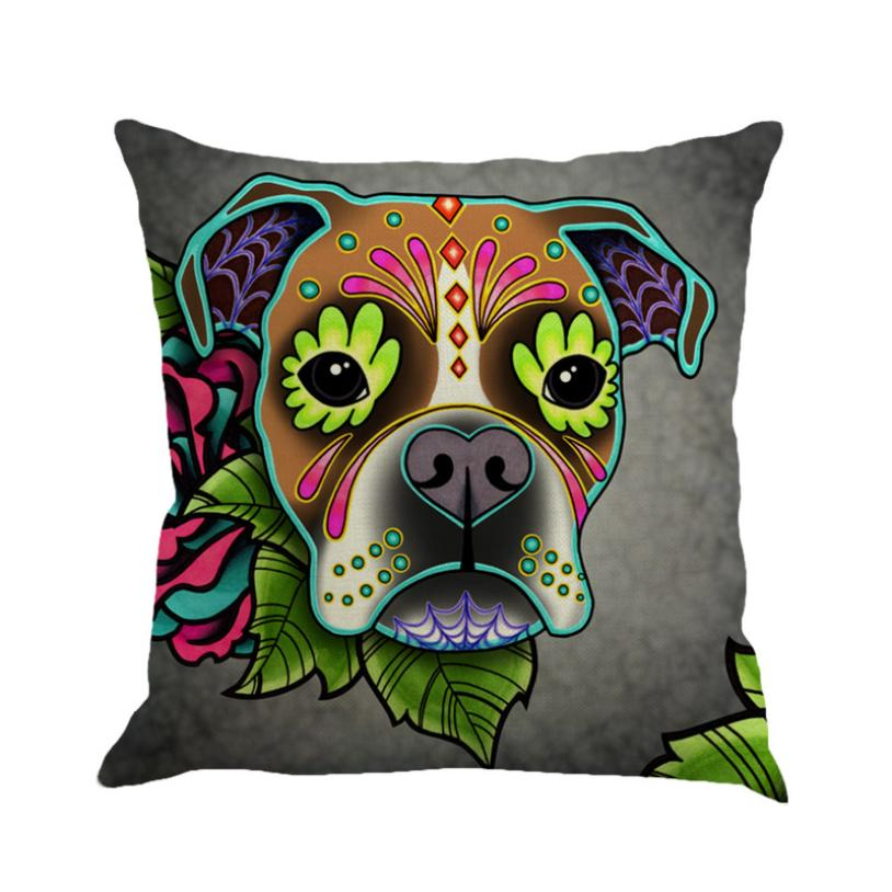 Greyhound Painting Decorative Pillows For Sofa Seat Cushion Cover Linen Pillowcas Throw Pillow Case Cover Office Home Decor
