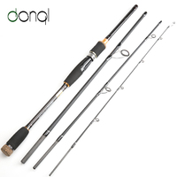 DONQL New Carbon Fiber Fishing Rod 2.1m 2.4m 2.7m 3.0m 4 Section Spinning Casting Travel Lure Rod Fishing Tackle Accessories