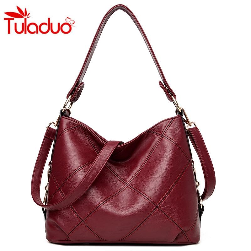Thread Luxury Hobos Women Handbags 2017 Fashion Plaid Women Shoulder Bags Soft Leather Bag Sac a