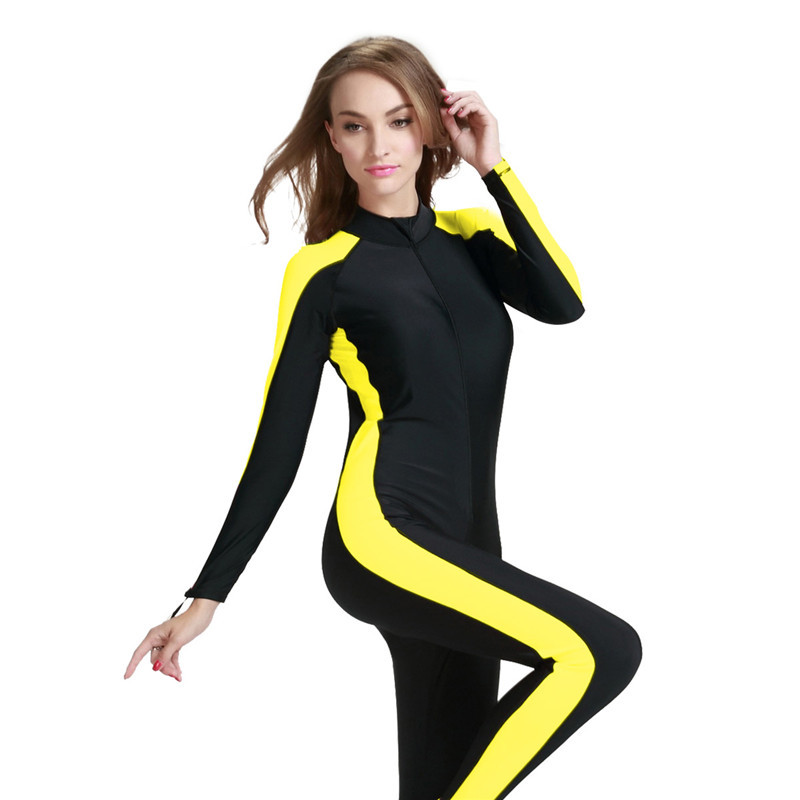 cf3c65a6987 Sbart spearfishing wetsuit diving suit one piece swimwear ladies long  sleeves swimwear full body swimsuit wet suit for swimming-in Wetsuit from  Sports ...