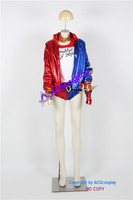 Batman Suicide Squad Harley Quinn Cosplay Costume Whole Set Include Belt