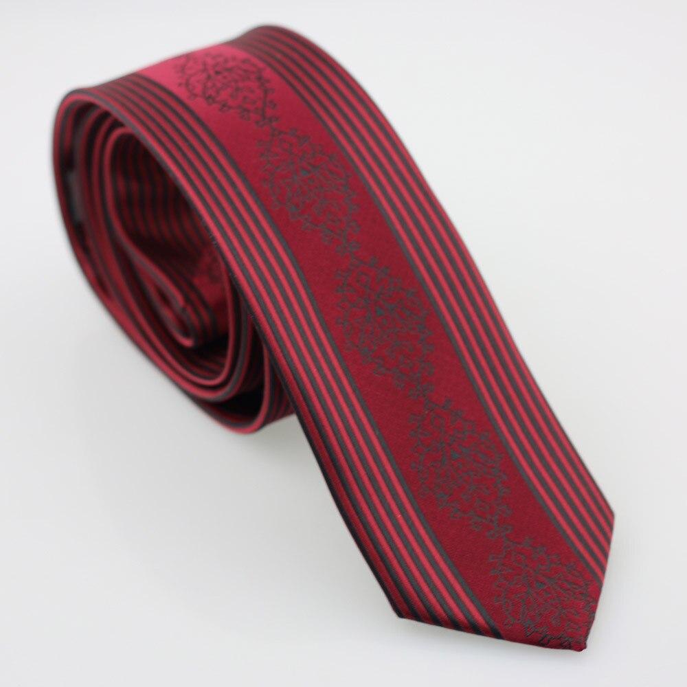 Yibei Coachella галстук красный Галстуки Slim с черный в полоску Florals Gravatas жаккардовая микрофибры дешевые шеи Галстуки Тощий подарок для для мужчин