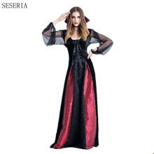 SESERIA S-XL Gothic Sexy Vampire Costume Vampire Costume Women Masquerade Party Halloween Cosplay Dress