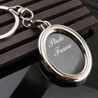 2019 Fashion Presell Creative Mini Heart Square Round Oval Insert Photo Frame Rotary Keychain Keyring Souvenirs Gift Jewelry