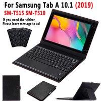 TouchPad Tastatur Fall für Samsung Galaxy Tab EINE 10 1 2019 SM-T515 SM-T510 T515 T510 Smart Leder Abdeckung Lösen Tastatur + stift