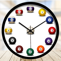 Creative billiards theme decorative wall clock Fun billiard wall clock