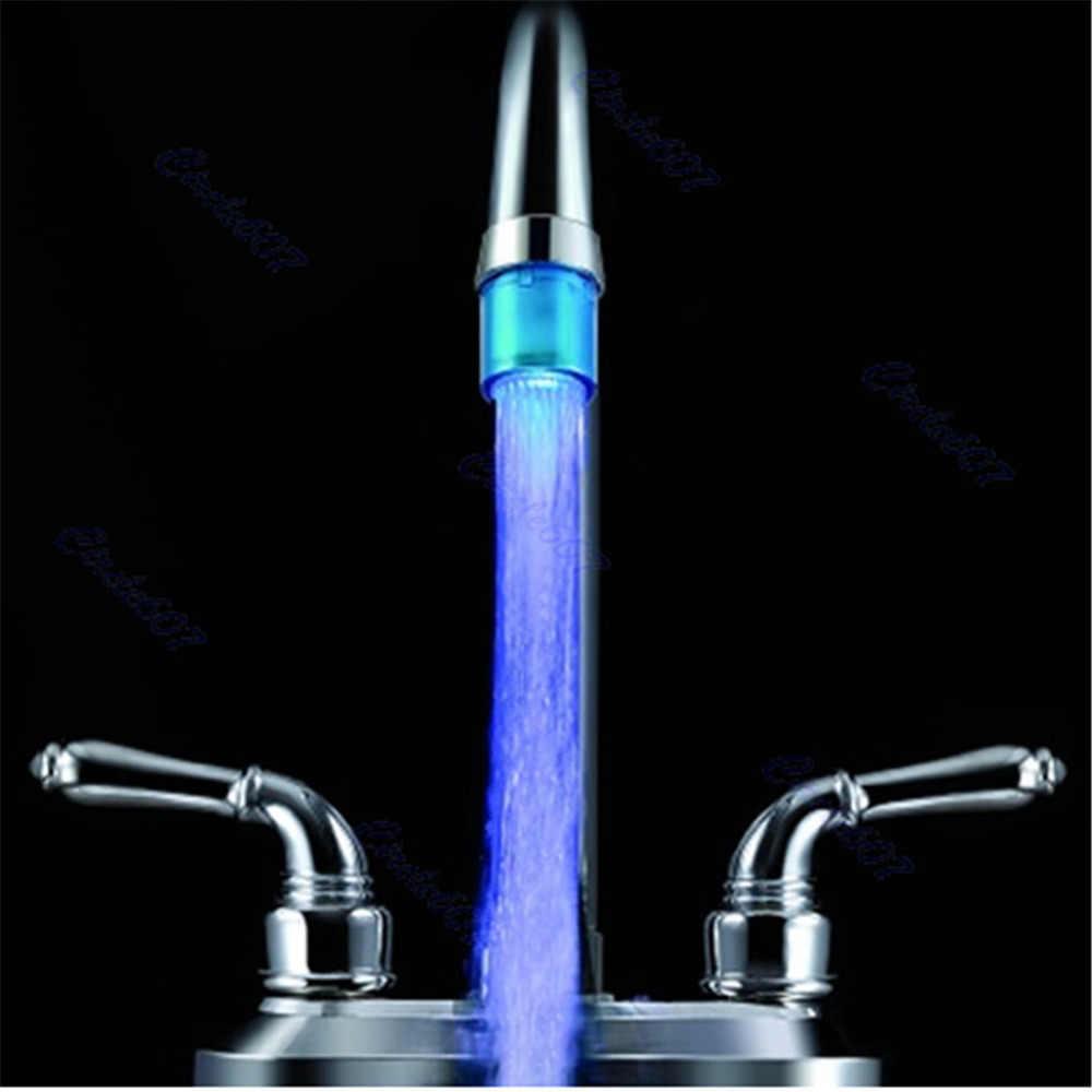 浴室台所ミニブルーグロー LED ライト水流蛇口タップ LD8001-A8 # D2074 #