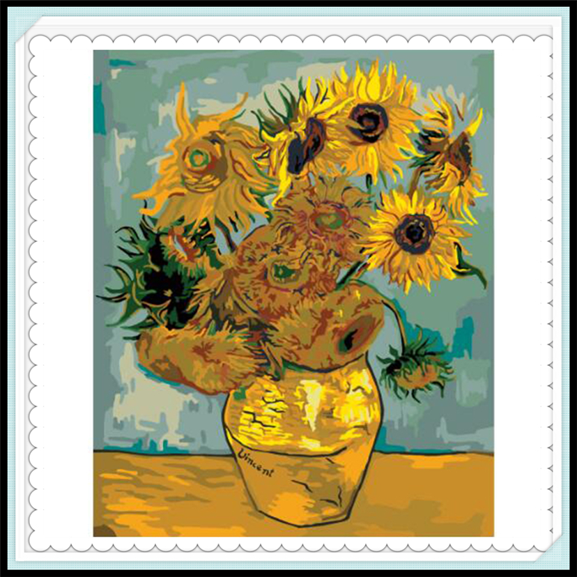 Sunflower By Vincent Van Gogh Painting By Numbers On Canvas Diy