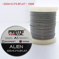PIRATE COIL 100 m / roll A1 Electronic Cigarette Heating Wire RDA DIY Accessory Resistance Wire Alien