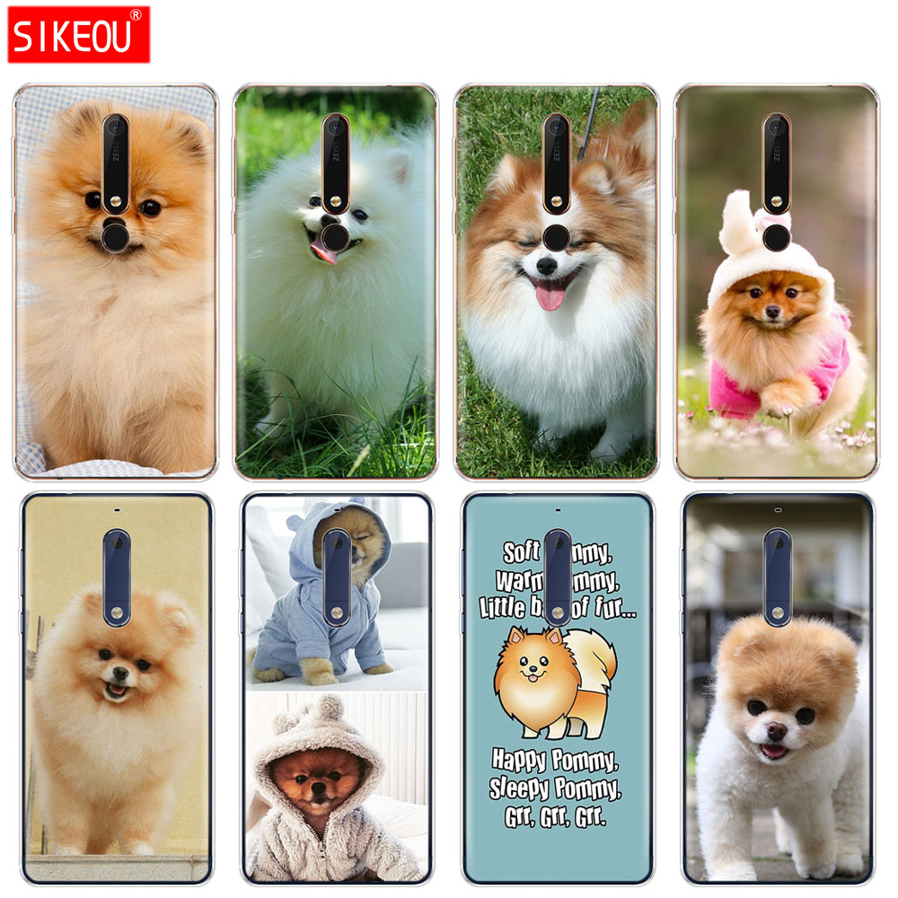 silicone cover phone <font><b>case</b></font> for <font><b>Nokia</b></font> 5 <font><b>3</b></font> 6 7 PLUS 8 9 /<font><b>Nokia</b></font> 6.1 6 2018 cute <font><b>dogs</b></font> perro pomeranian puppy image