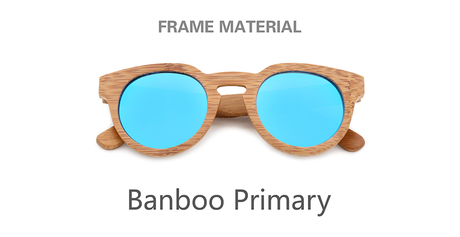 Bamboo Vintage Women oval Wood sunglasses 11