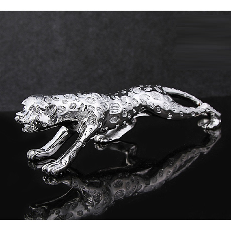 Resin Leopard Sculpture Electrolytic Panther Statue Gift Craft Ornament Accessories Embellishment For Home Office Decor L3177