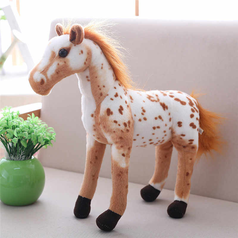 """Simulação realista Lifelike 30 cm/11.81 """"Brinquedos De Pelúcia Cavalo Bonito Stuffed Animal Boneca de Brinquedo para a Decoração Da Casa Crianças favor do Presente"""