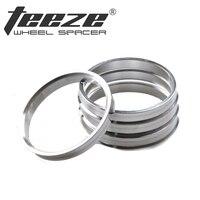 Aluminium wiel hub ringen OD 67.1 ID 56.6 auto accessoires centric hub ringen 4 stks/set gratis verzending