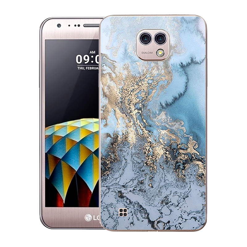 For LG X Cam Case 5.2 Cover Soft Silicone Fundas For LG K580 K580DS Marble Printed For K580 K580DS 5.2 Phone Cases