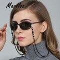 Mallvos Reading Eyeglass Chain Beaded Glasses Chains Eyeglass  Holder Rope Ends Black Glasses Lanyards Women